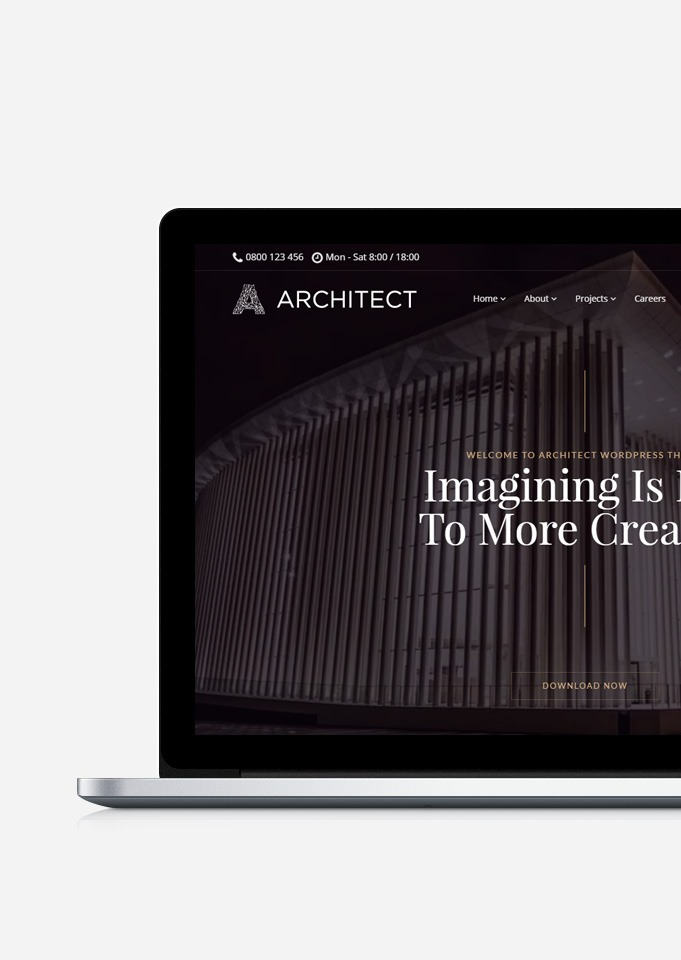 Architect WordPress Theme - Interior Design & Architecture Responsive Template