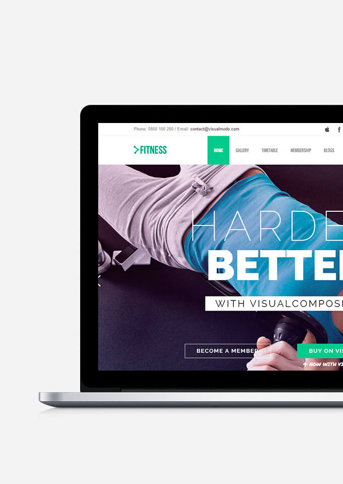Fitness WordPress Theme - Health Responsive Template