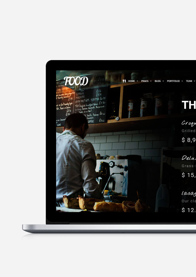 Food WordPress Theme Responsive Restaurant Template