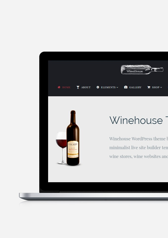 WineHouse WordPress theme build by Visualmodo - Responsive wine Site Builder