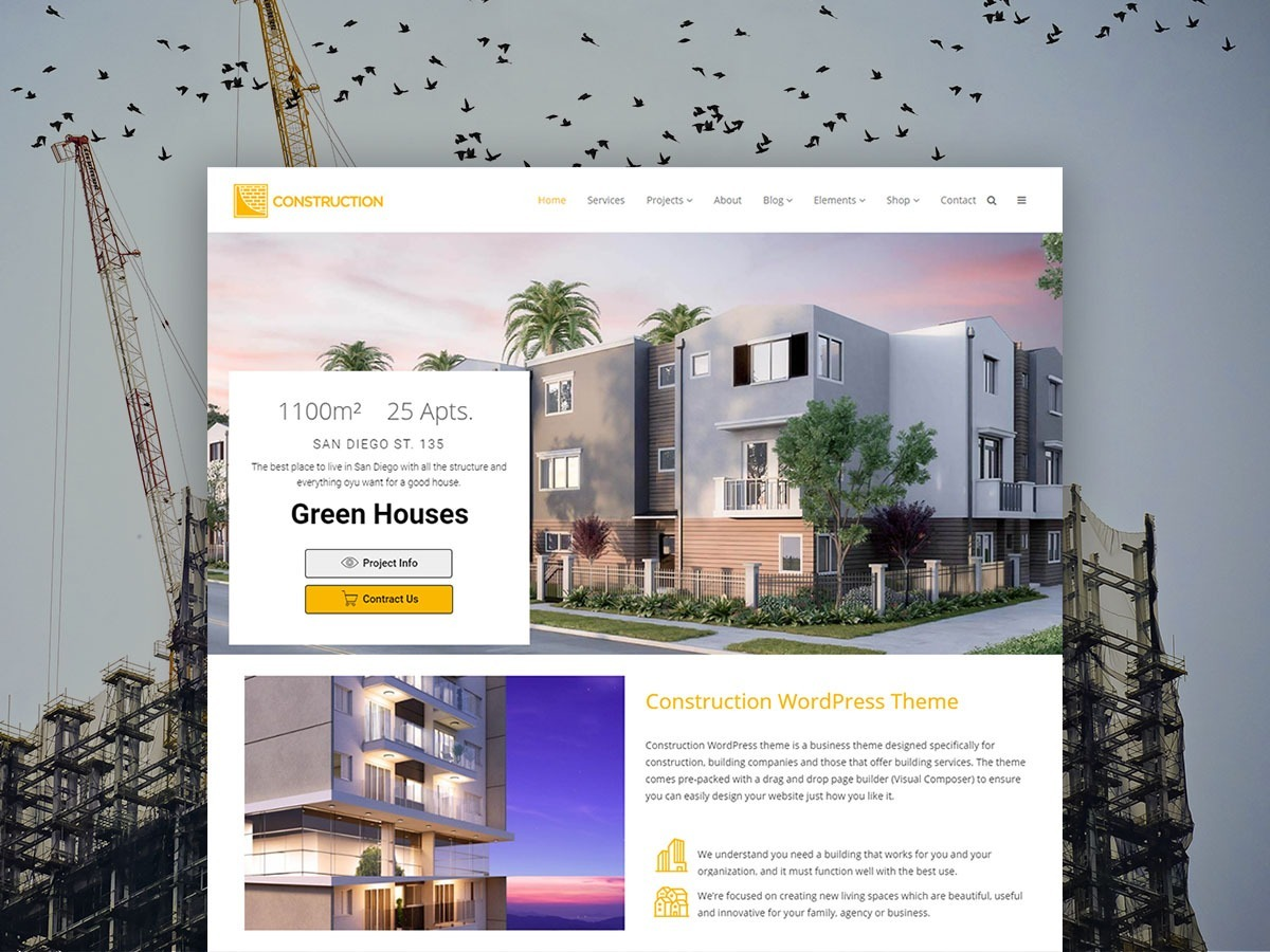Construction WordPress Theme – Building Services & Developer Templates