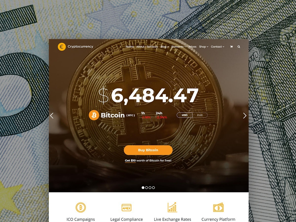 Cryptocurrency WordPress Theme – Responsive Crypto Template