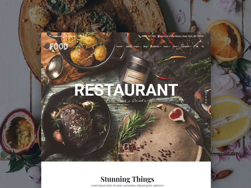 Food WordPress Theme – Restaurant, Pub & Bar Responsive Template