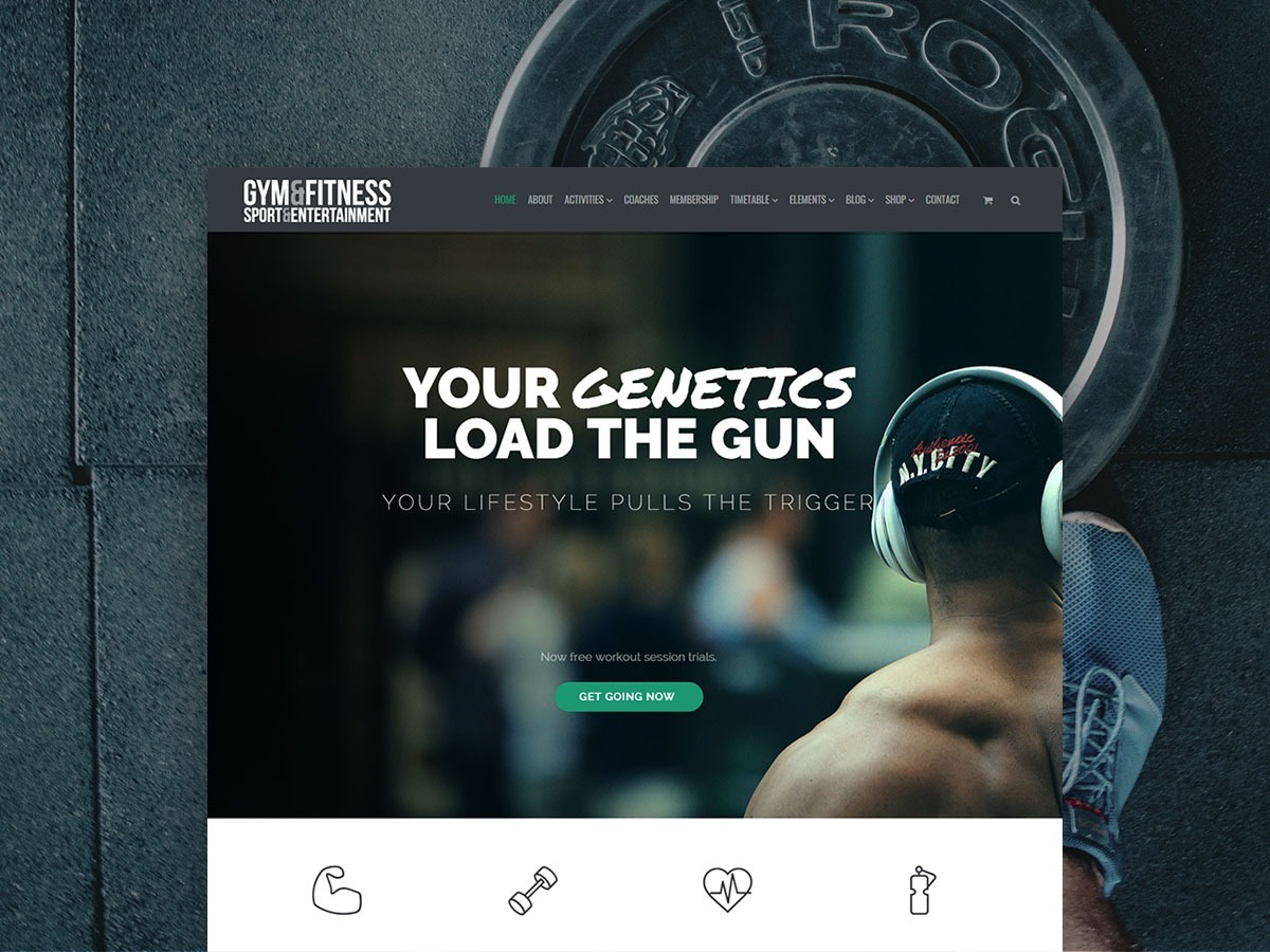 Gym WordPress Theme – Responsive Health and Fitness Template