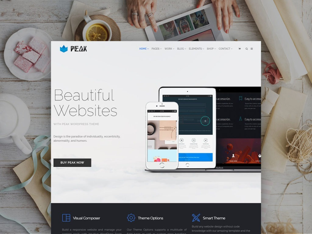 Peak WordPress Theme – Responsive Multi-Purpose Retina Template