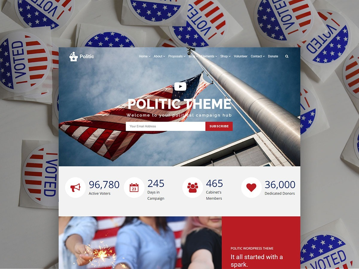 Politic WordPress Theme – Candidate Campaign Responsive Template