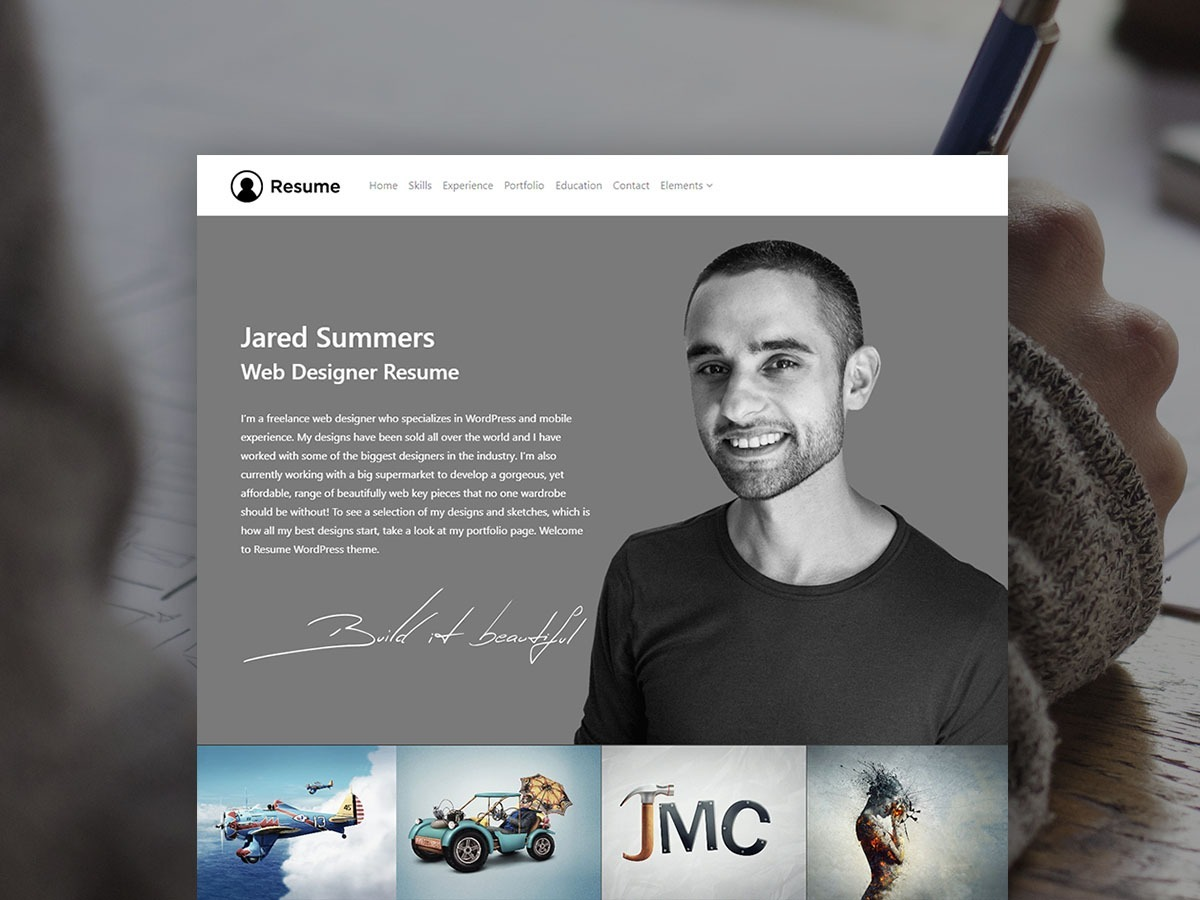 Resume WordPress Theme – Responsive CV Template