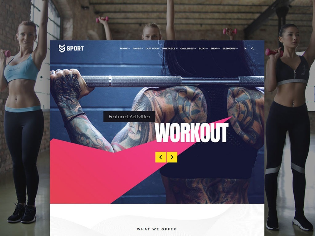 Sport WordPress Theme – Health and Fitness Responsive Template