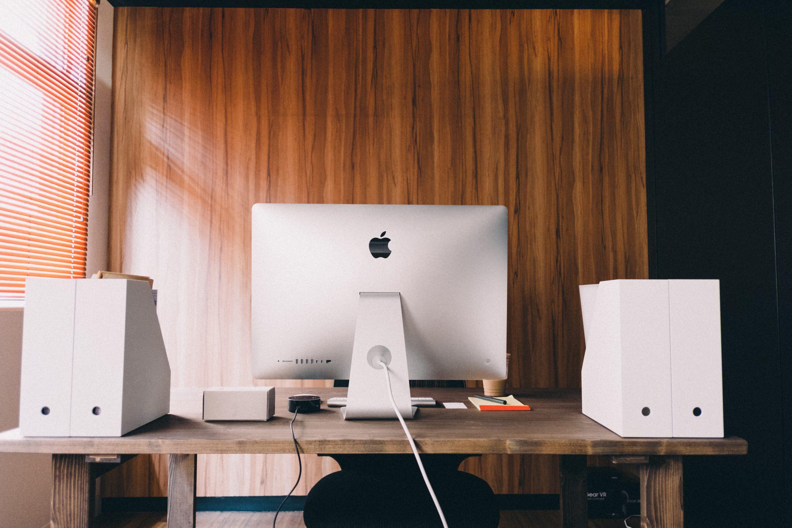 silver Apple iMac